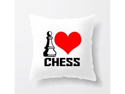 Polštář Miluji šachy