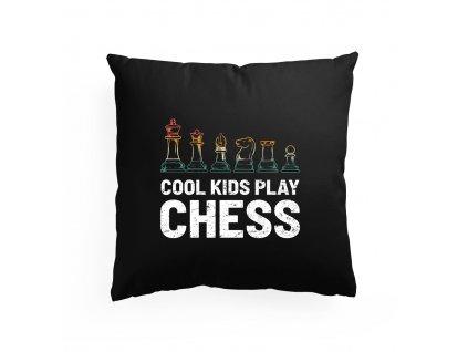 Polštář Cool děti hrajou šachy