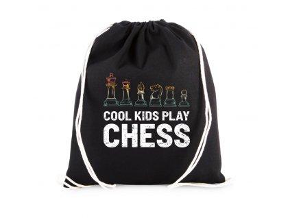 Vak Cool děti hrajou šachy