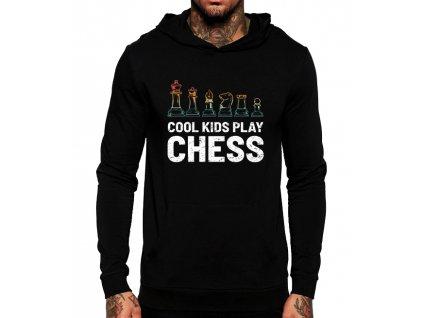 Mikina s kapucí Cool děti hrajou šachy