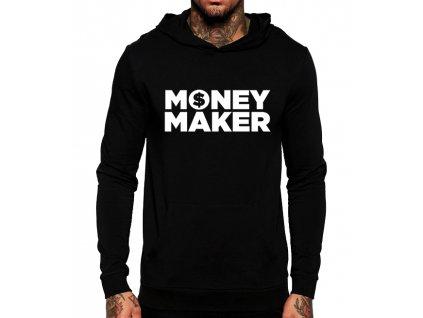 černá unisex mikina s kapucí Money Maker