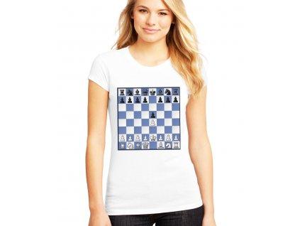 dámské tricko Bongcloud šachy