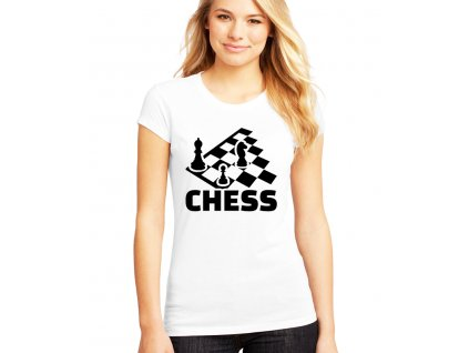 Dámské tričko Šachy