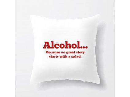 Polštář Alkohol skvělé příběhy