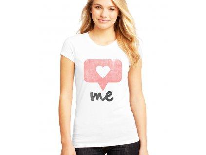 Dámské tričko Instagram srdíčko