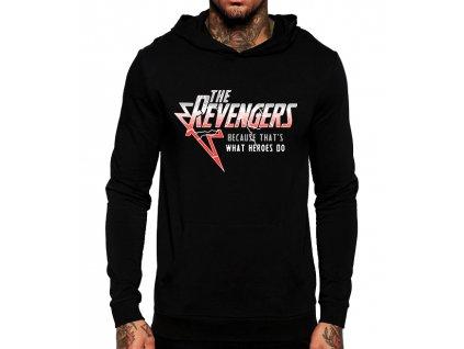 černá unisex mikina s kapucí Revengers