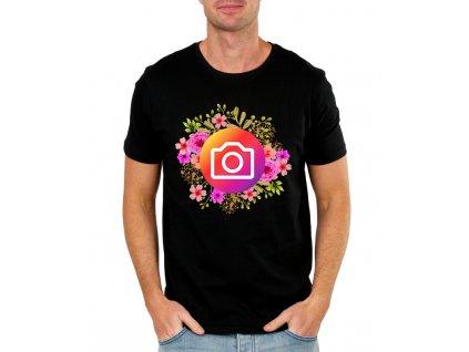 Pánské tričko Instagram kytičky