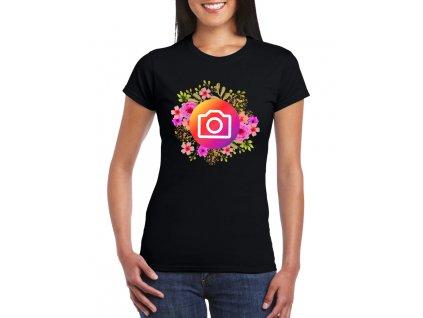 Dámské tričko Instagram kytičky