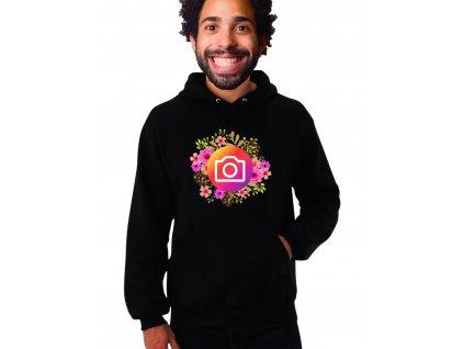 Mikina s kapuci Instagram kytičky