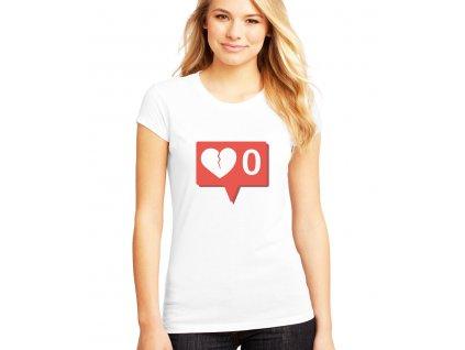 Dámské tričko Žádné notifikace instagram