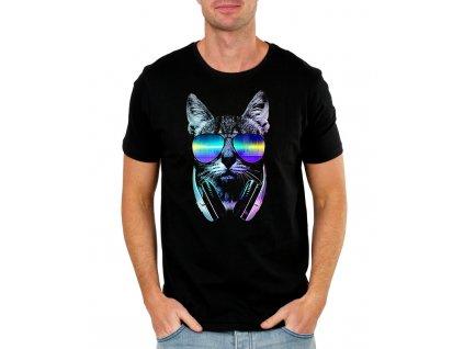 Pánské tričko Kočka muzika