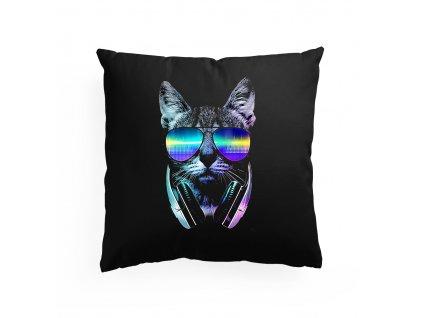 Polštář Kočka muzika