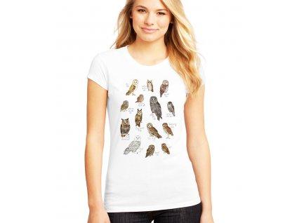 Dámské tričko Sovy