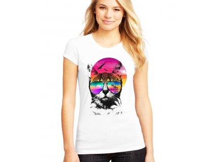 Dámské tričko Kočička Léto