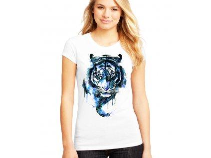 Dámské tričko Modrý Tygr