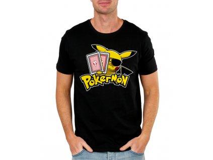 pánské tričko pokemon, poker
