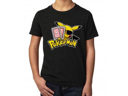 Dětské tričko Poker a Pokemon