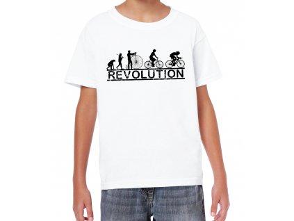 Dětské tričko Cyklistika Revoluce