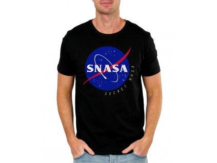 pánské černé tričko Snasa tajná Nasa