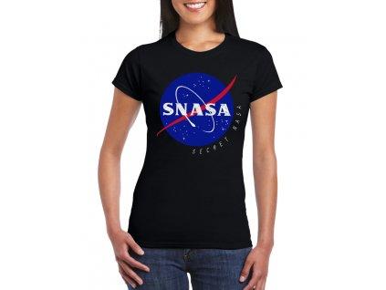 dámské černé tričko Snasa tajná Nasa