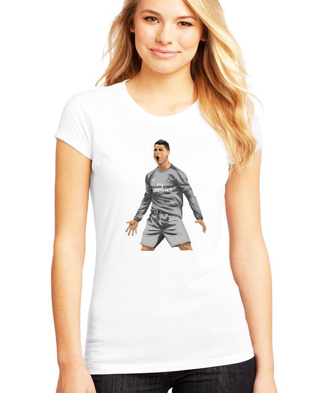 Dámské tričko Cristiano Ronaldo - Real madrid Velikost: XXL
