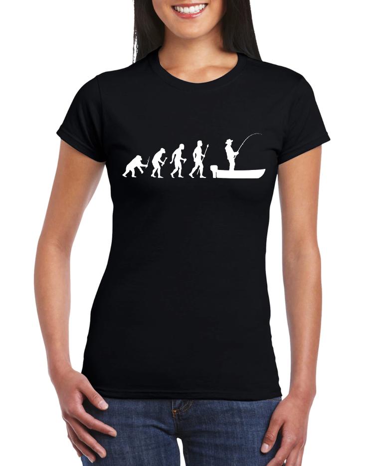 Dámské tričko Evoluce Rybář Velikost: XL