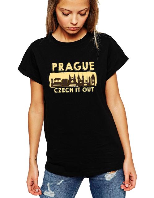 Dámské tričko Praha Velikost: XL