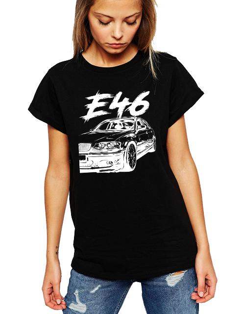 Dámské tričko BMW E46 Velikost: M, Barva: Černá