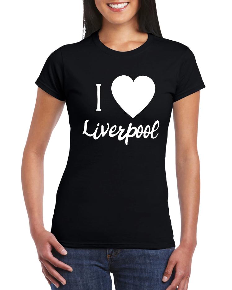 Dámské tričko Miluji Liverpool FC Velikost: XL