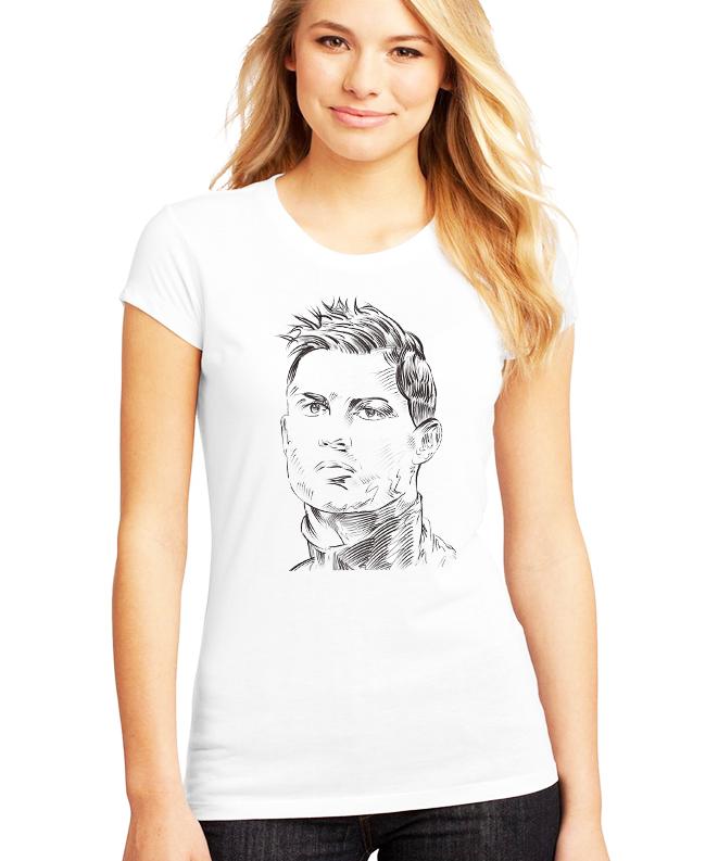 Dámské tričko Cristiano Ronaldo - Obličej Velikost: XXL