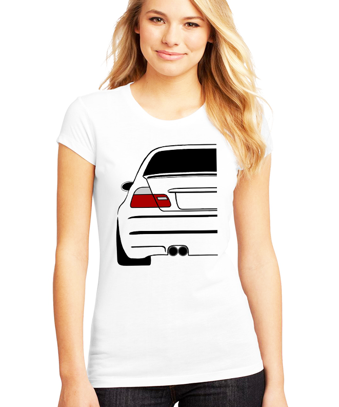 Dámské tričko BMW E46 Zadek Velikost: XXL