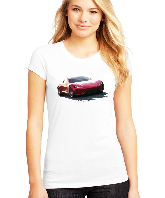 Dámské tričko Tesla Roadster Velikost: XXL