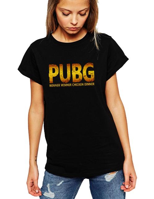 Dámské tričko PUBG - Chicken Dinner Velikost: XXL