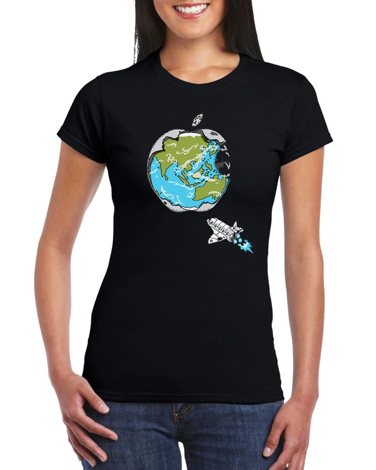 Dámské tričko Apple svět Velikost: XL