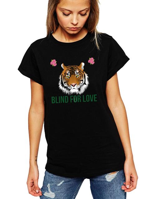 Dámské tričko Blind for love Velikost: XXL