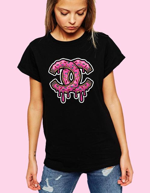 Dámské tričko Coco Chanel Donut Velikost: XL
