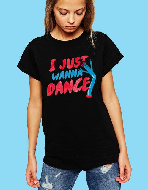 Dámské tričko Chci Prostě Tancovat Velikost: XL