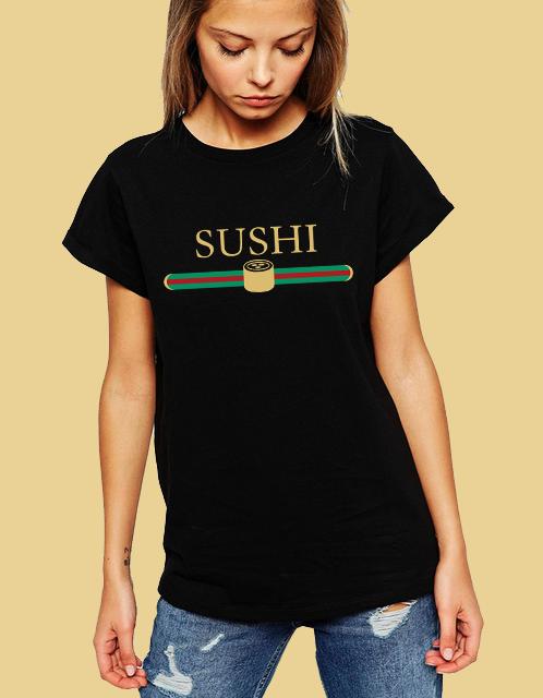 Dámské tričko Sushi aka Gucci Velikost: XXL