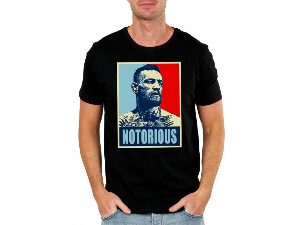 3a008c91ddf2 Pánske tričko Conor Mcgregor Notorious - FRESHGEAR.sk