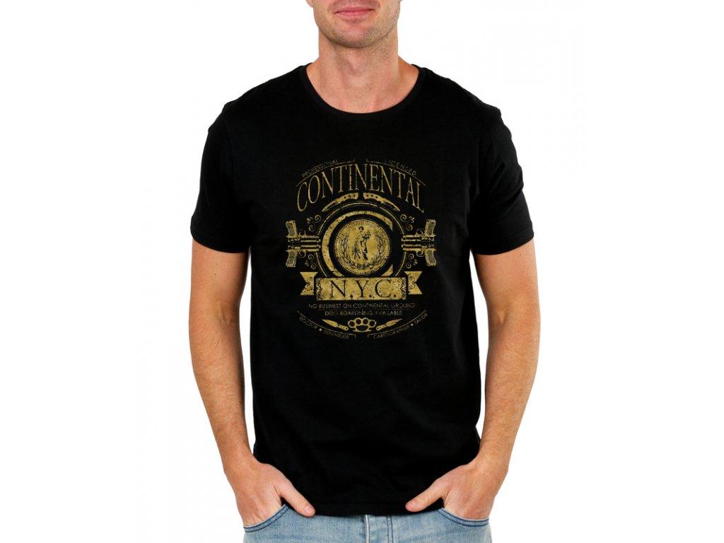 e015b7f4f86c Pánske tričko John Wick Continental - FRESHGEAR.sk
