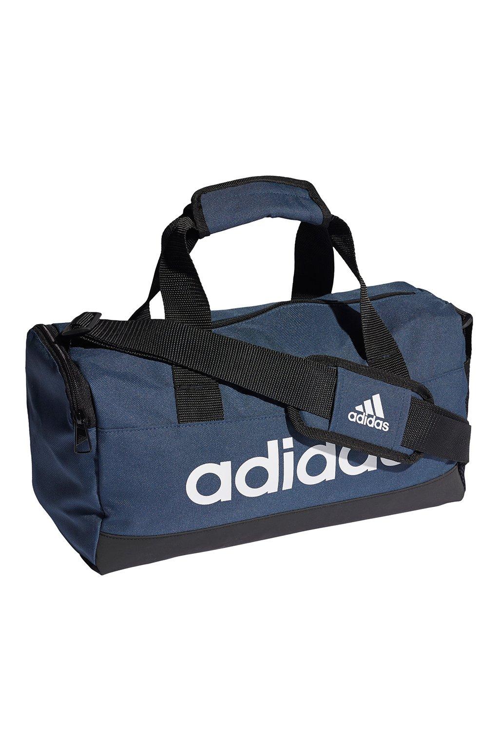 Taška adidas Essentials Logo Duffel Bag XS tmavomodrá GV0951