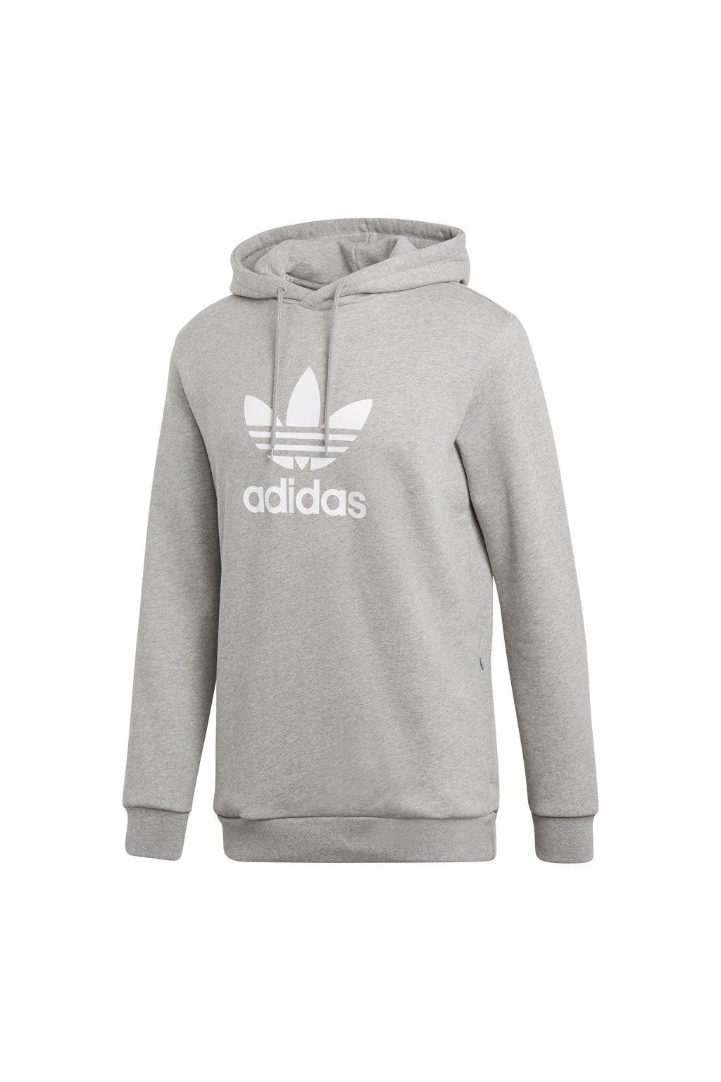 Pánska mikina s kapucňou Adidas Trefoil šedá CY4572