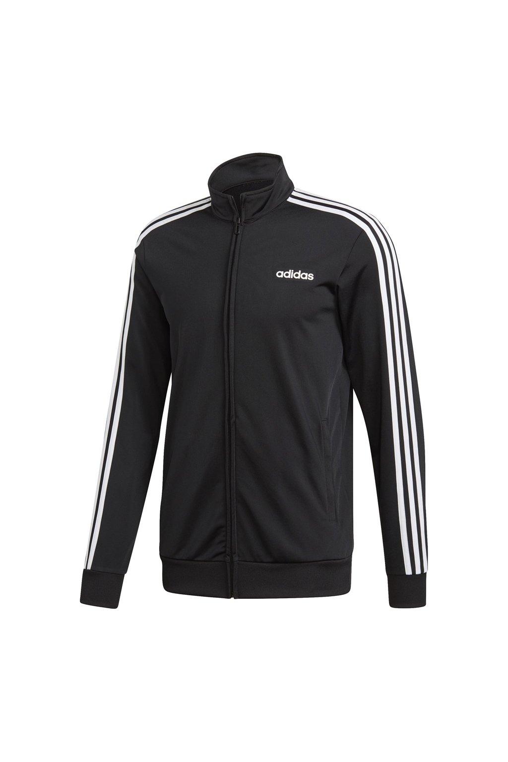 Pánska mikina Adidas Essentials 3 Stripes Tricot TT čierna DQ3070
