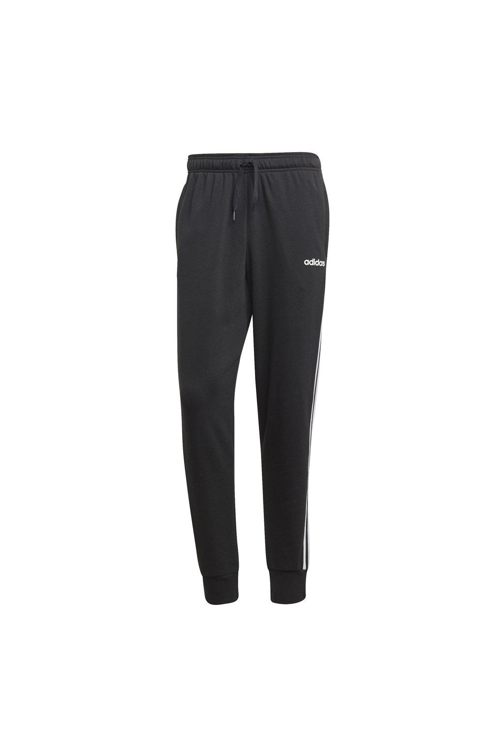 Adidas pánske tepláky Essentials 3 Stripes Tapered Pant FT čierne DU0468