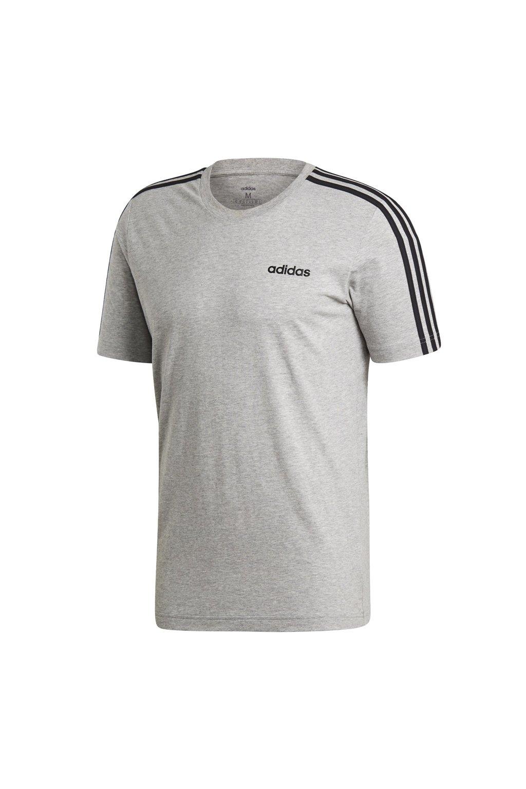 Pánske tričko Adidas Essentials 3 Stripes Tee grey DU0442