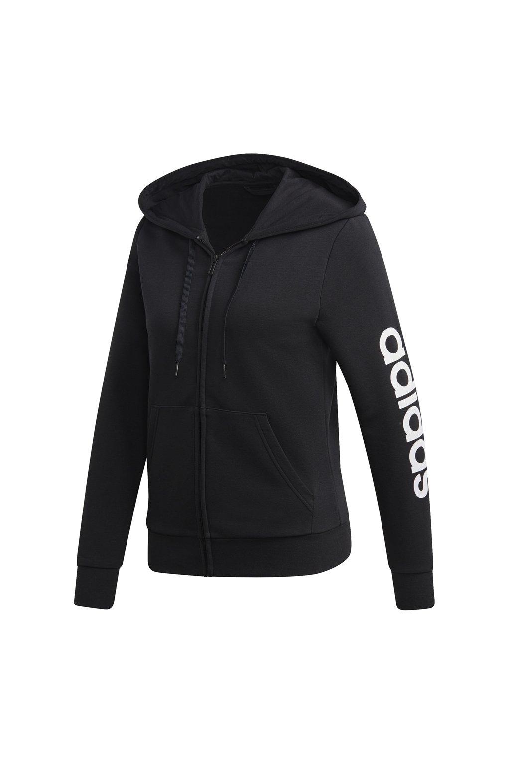 Dámska mikina Adidas W Essentials Linear FZ HD čiernobiela DP2401