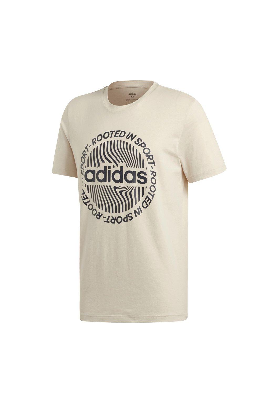 Pánske béžové tričko Adidas M CRCLD GRFX T EI4611