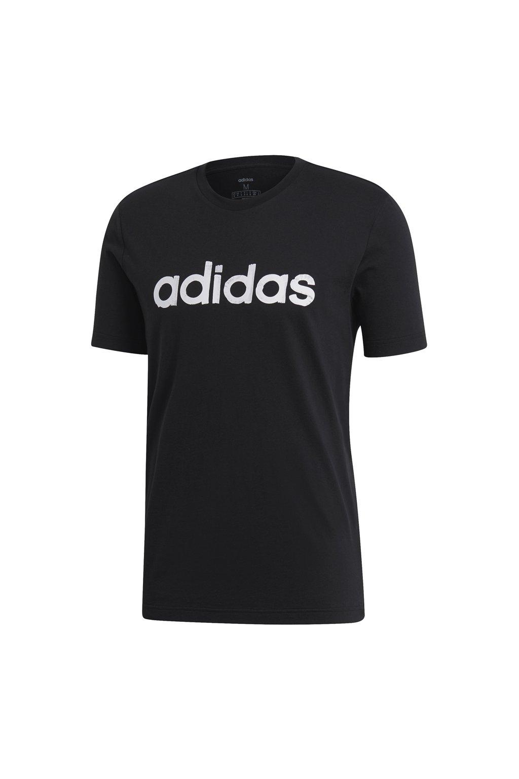 Pánske tričko Adidas M Graphic Linear Tee 3, čierne EI4599