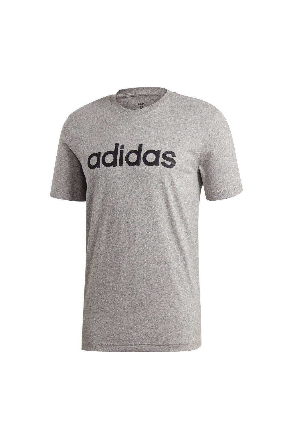 Pánske šedé tričko Adidas M Graphic Linear Tee 3, EI4580