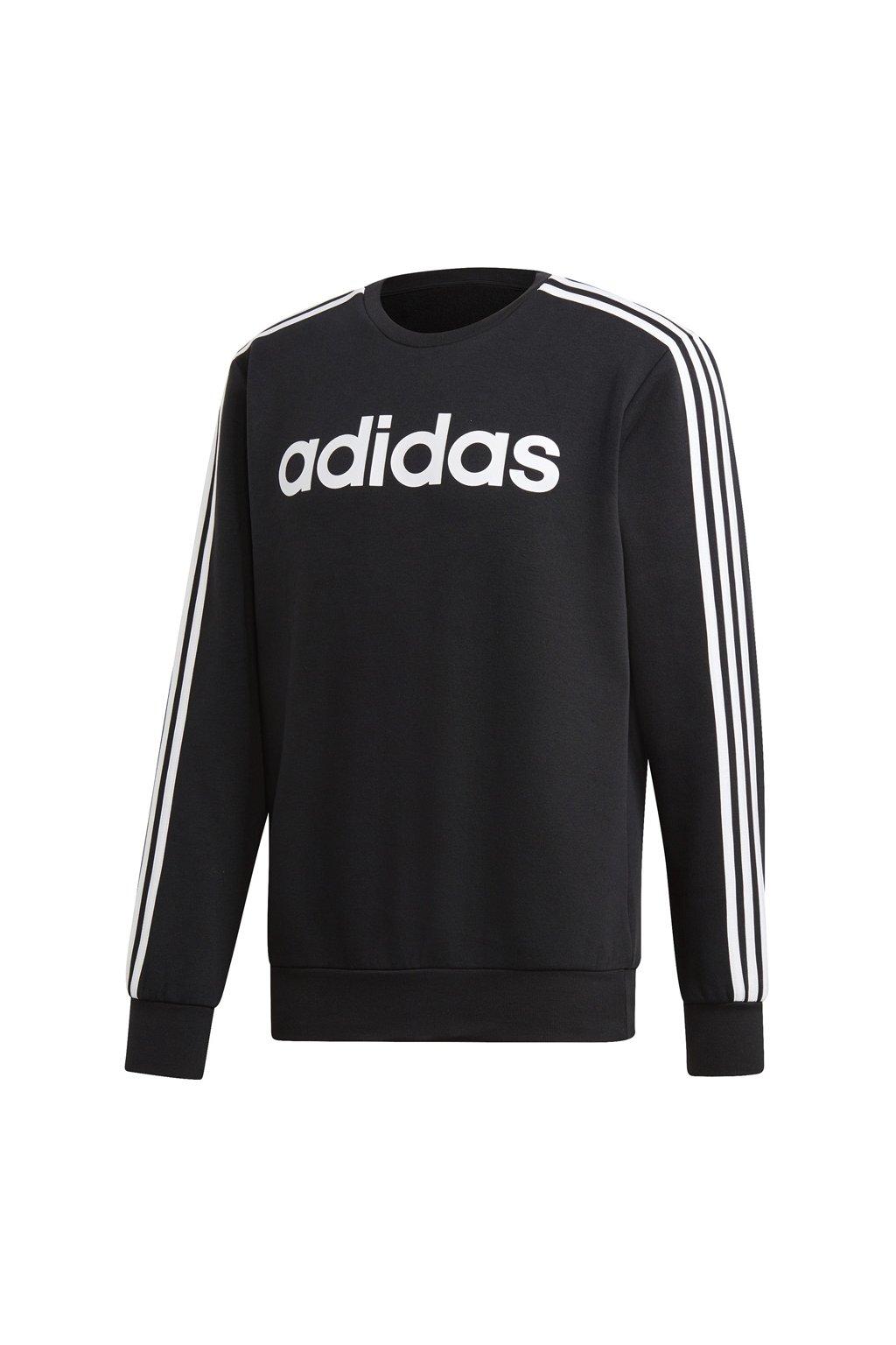 Pánska mikina Adidas Essentials 3S Crew FL / čierna DQ3084